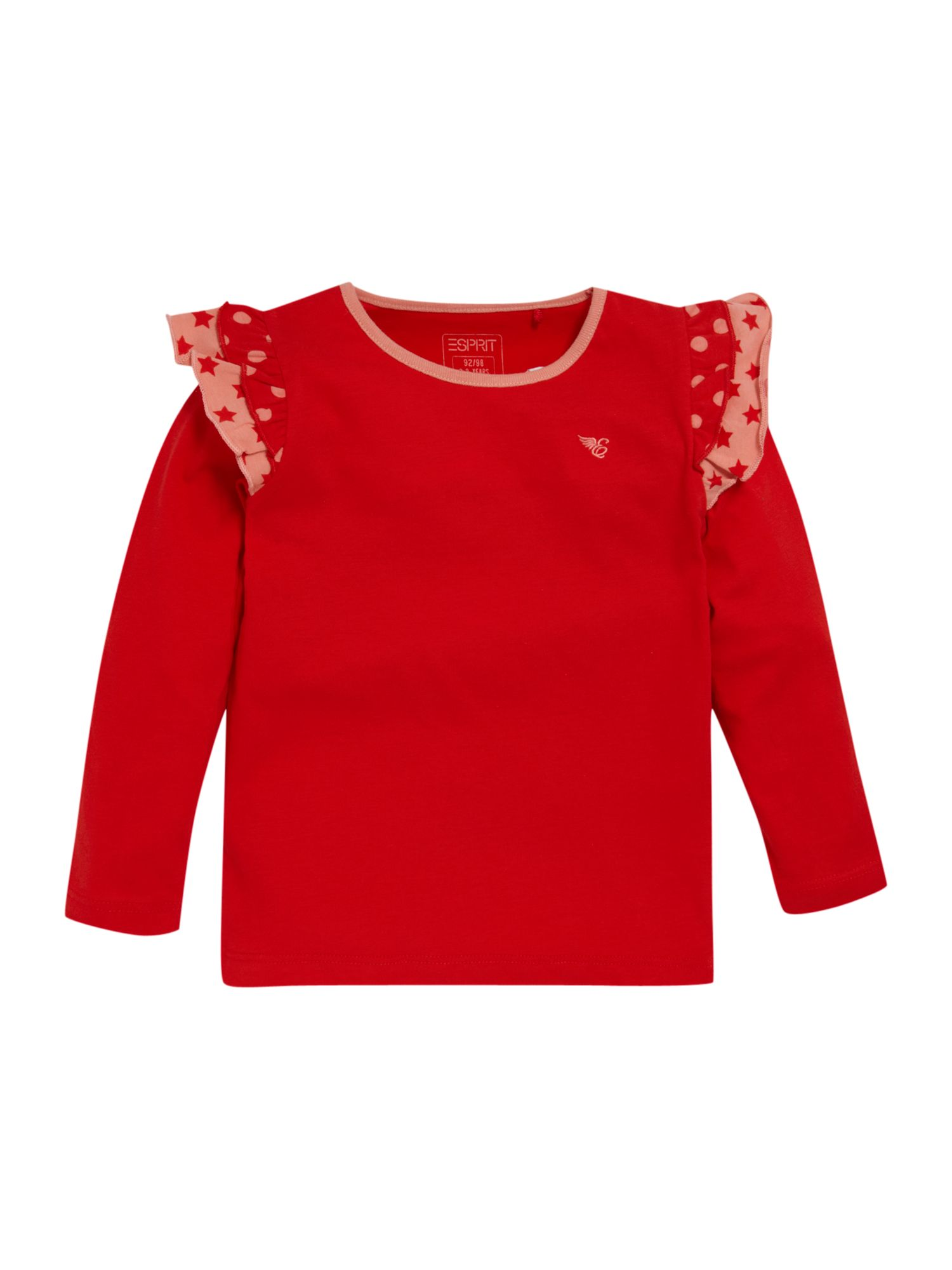 Esprit Long sleeve frill shoulder t-shirt, Red product image