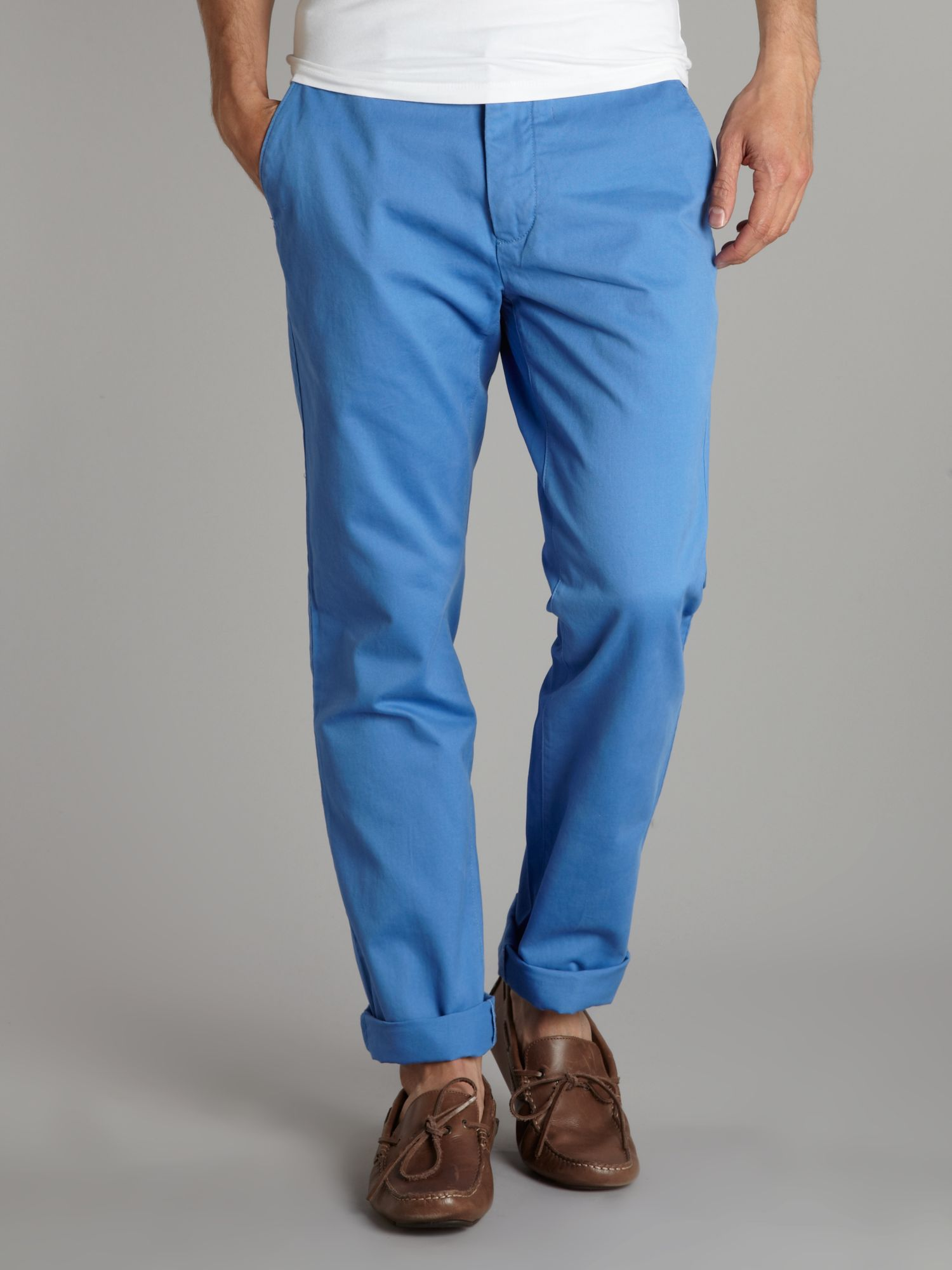 Slim fit cotton soho chino