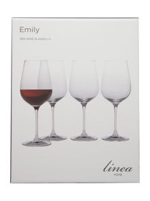 Emily red wine glasses - Box of 4