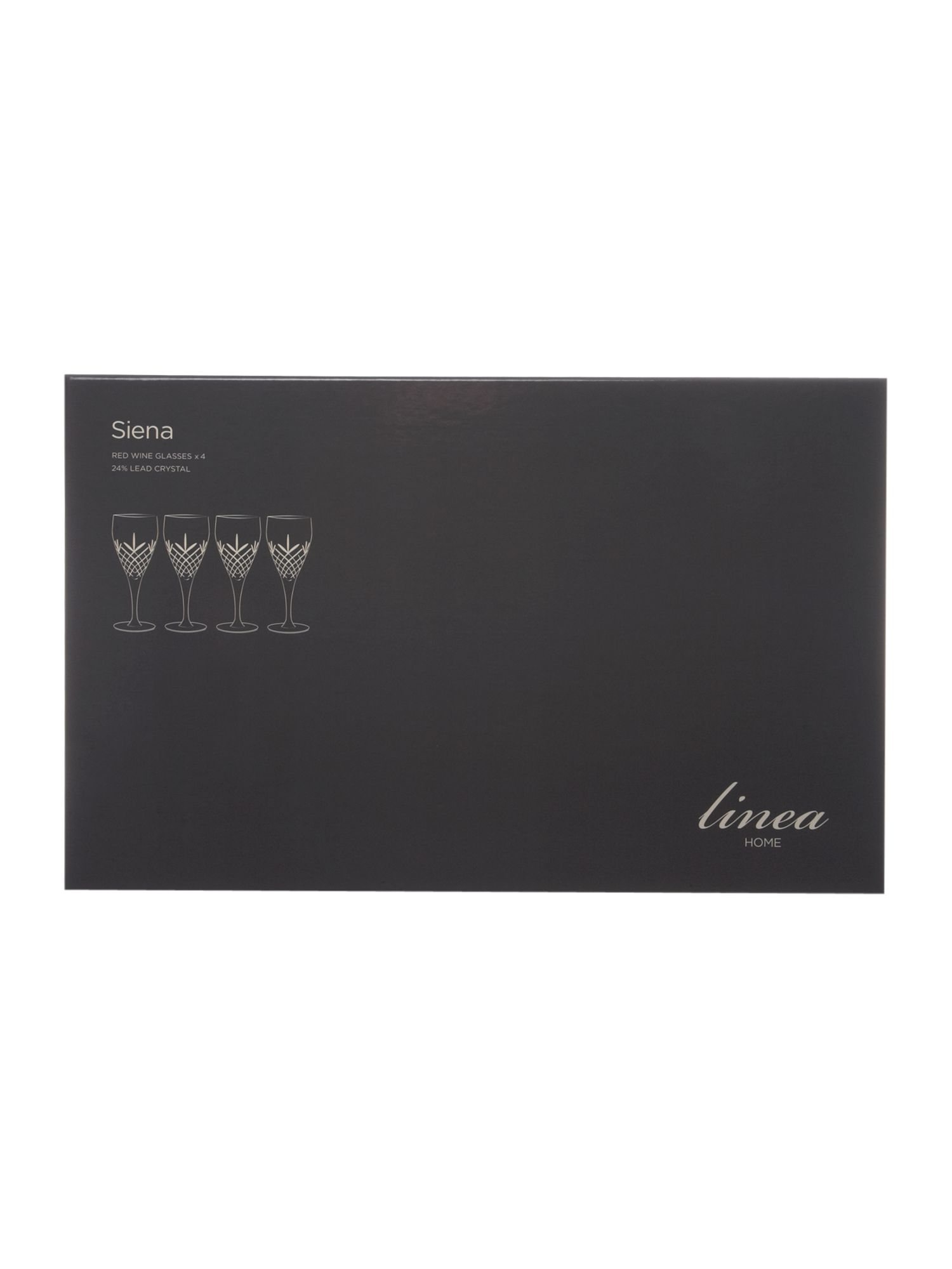 Siena red wine glasses box of 4
