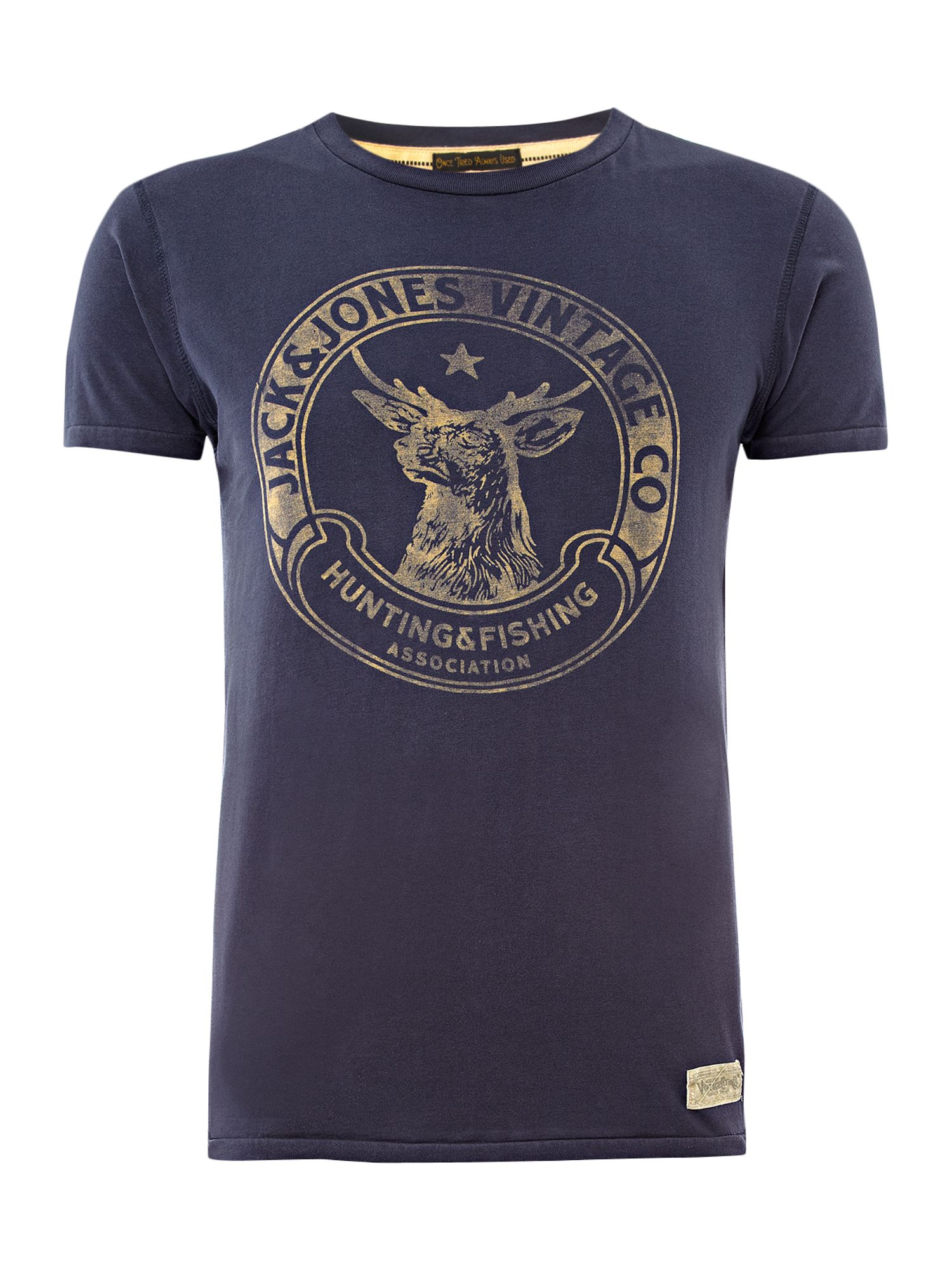 Jack & Jones Mens Jack and Jones Hunting logo t-shirt, product image