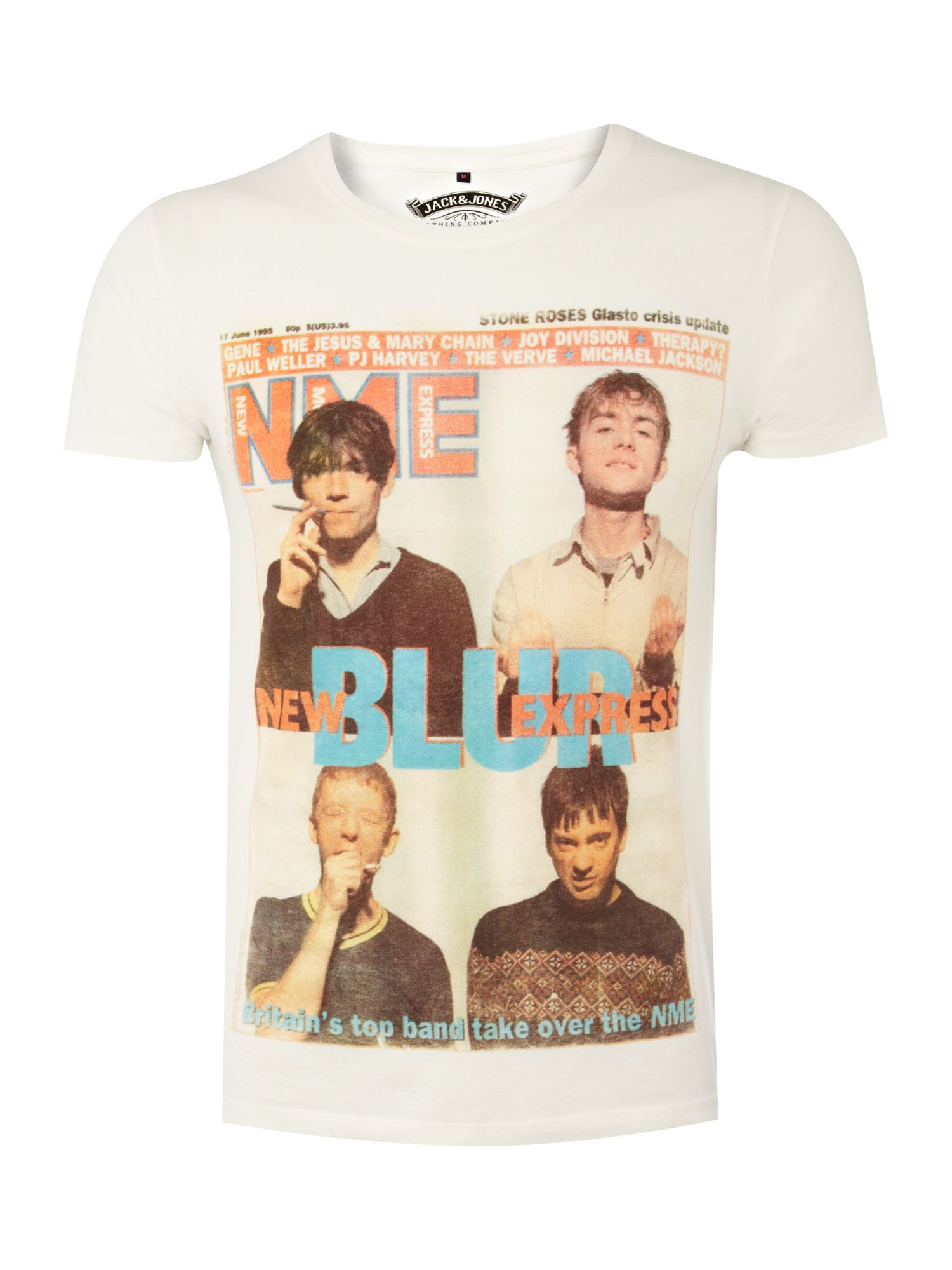 Jack & Jones Mens Jack and Jones Blur Printed t-shirt, product image