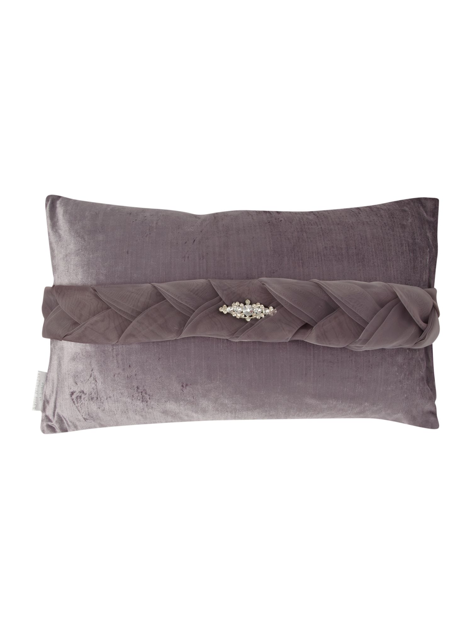 Venice organza plait cushion