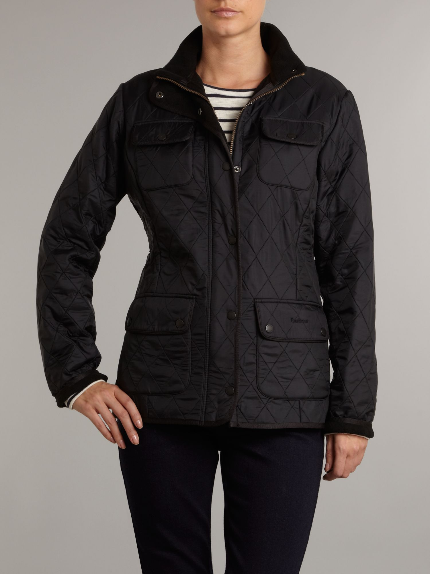 Utility polar quilted jacket