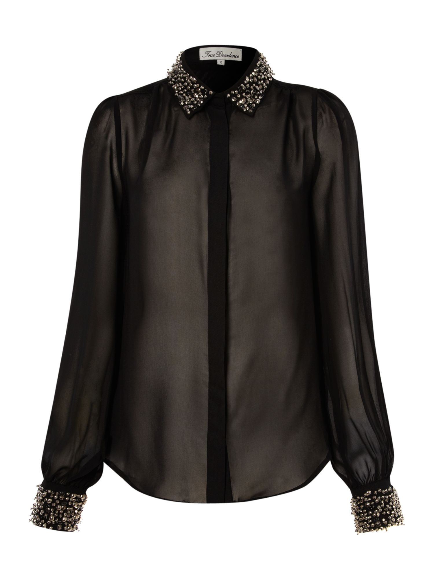 True Decadence Womens True Decadence Embellished blouse, product image