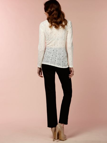 Biba Biba logo lace long sleeve top
