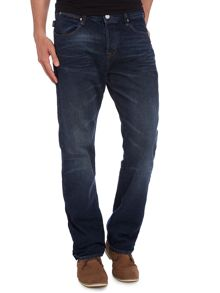 Boot cut dark denim jeans