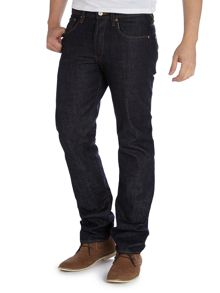 Regular straight fit dark jeans