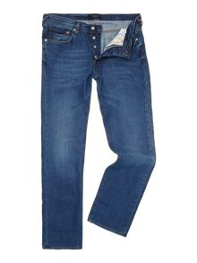 Regular straight fit light wash jeans