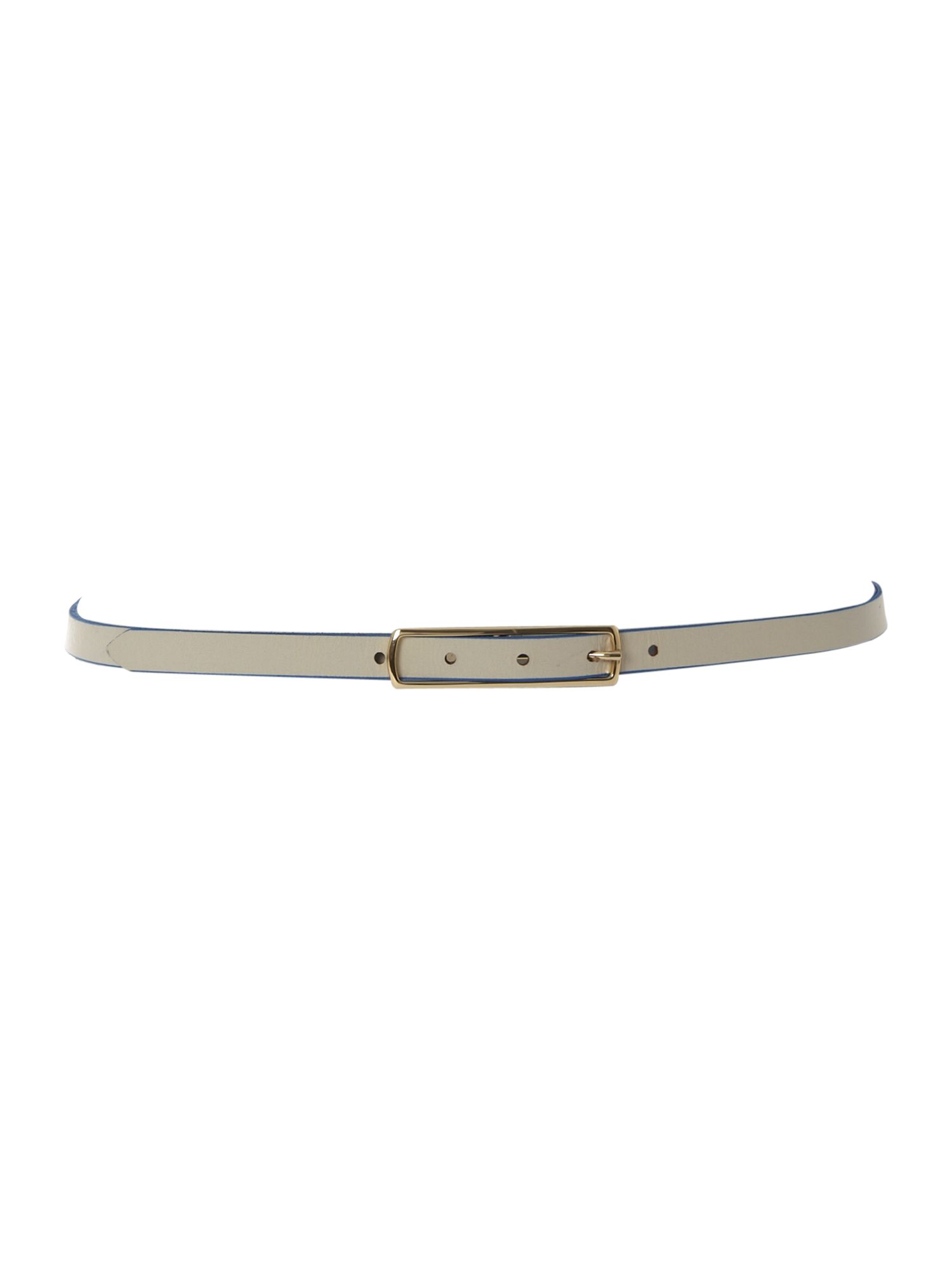 Leather skinny reversible belt