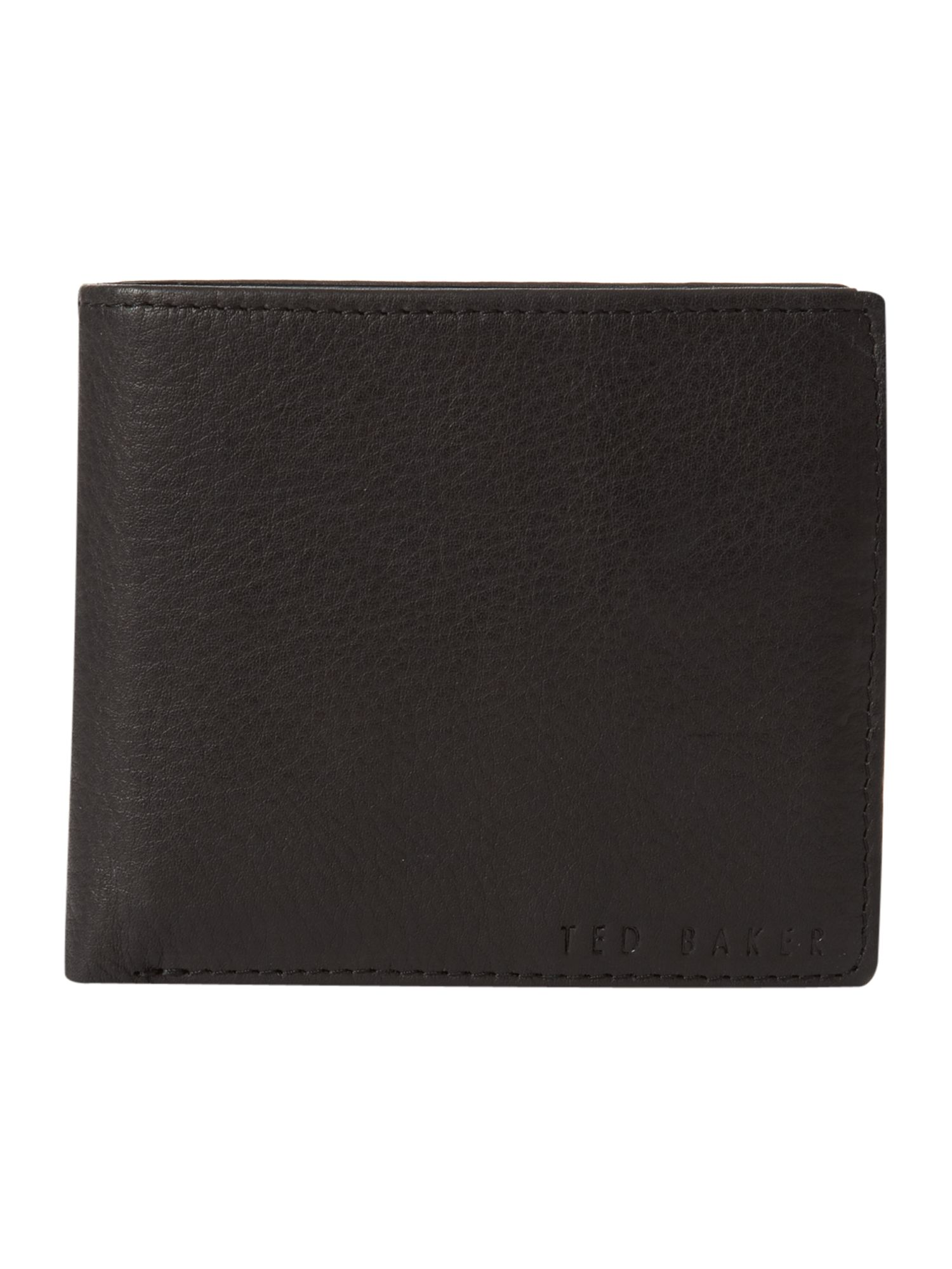 Logo stud wallet with coin pocket