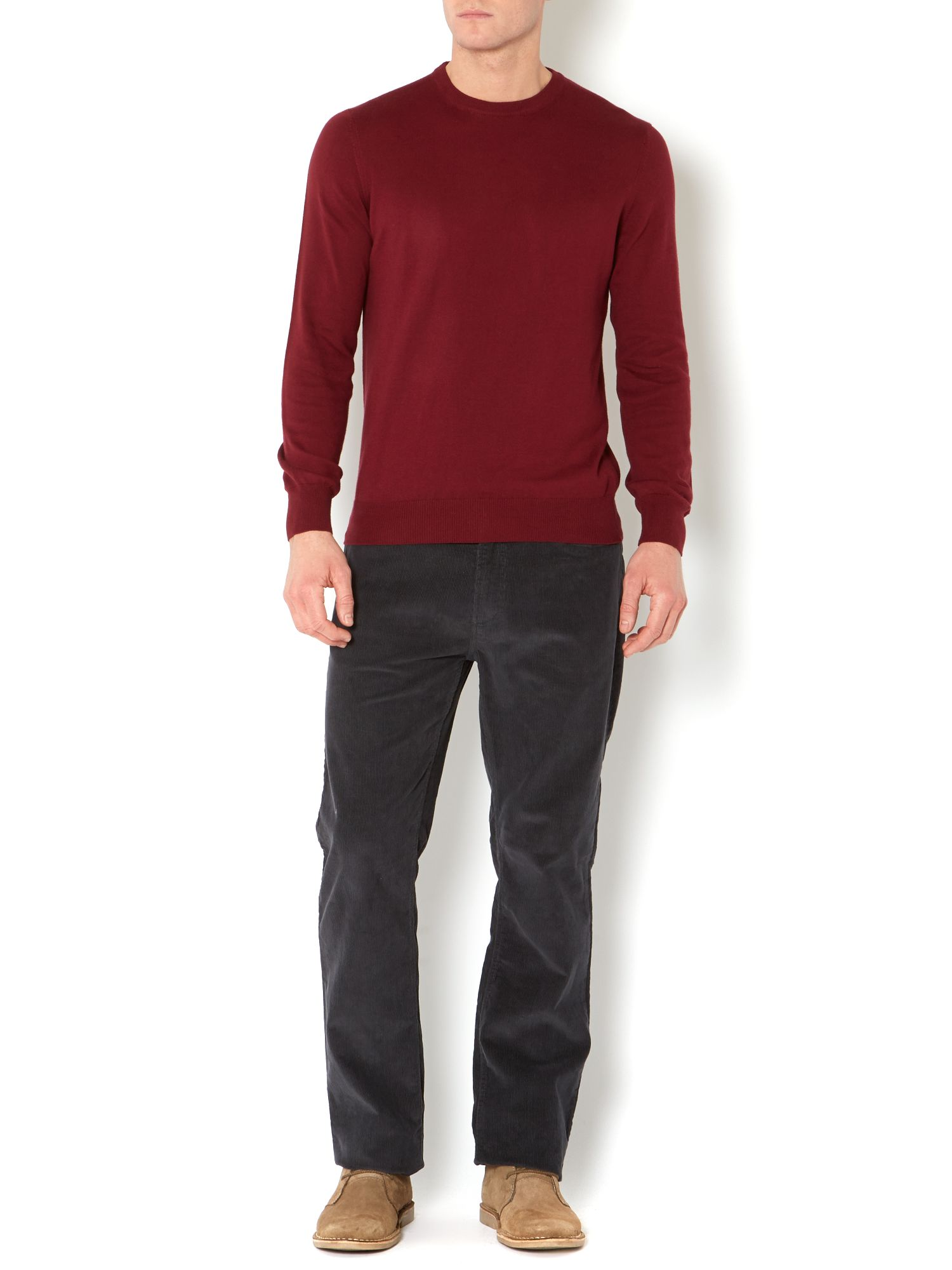 Greenwich cotton cashmere crew neck jumper