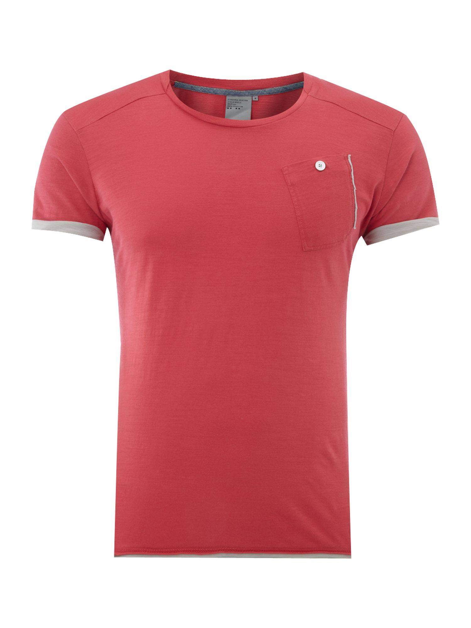 JC Rags Mens JC Rags Pocket crew neck T-shirt, Red product image