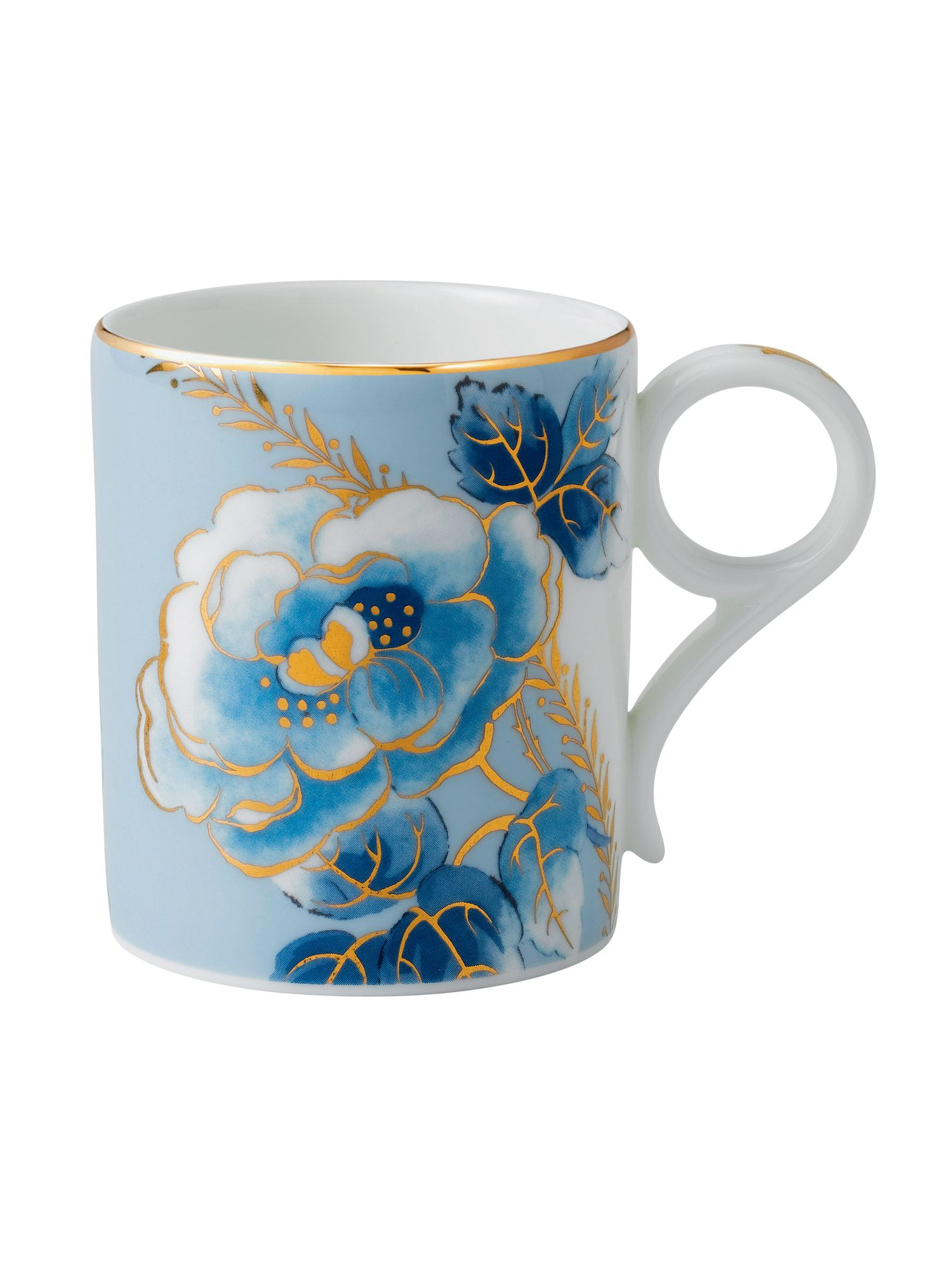 Archive collection blue peony mug