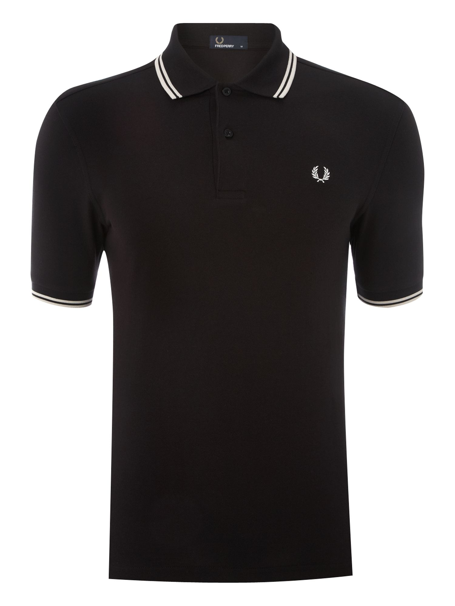 Mens Fred Perry Twin tipped polo shirt Black
