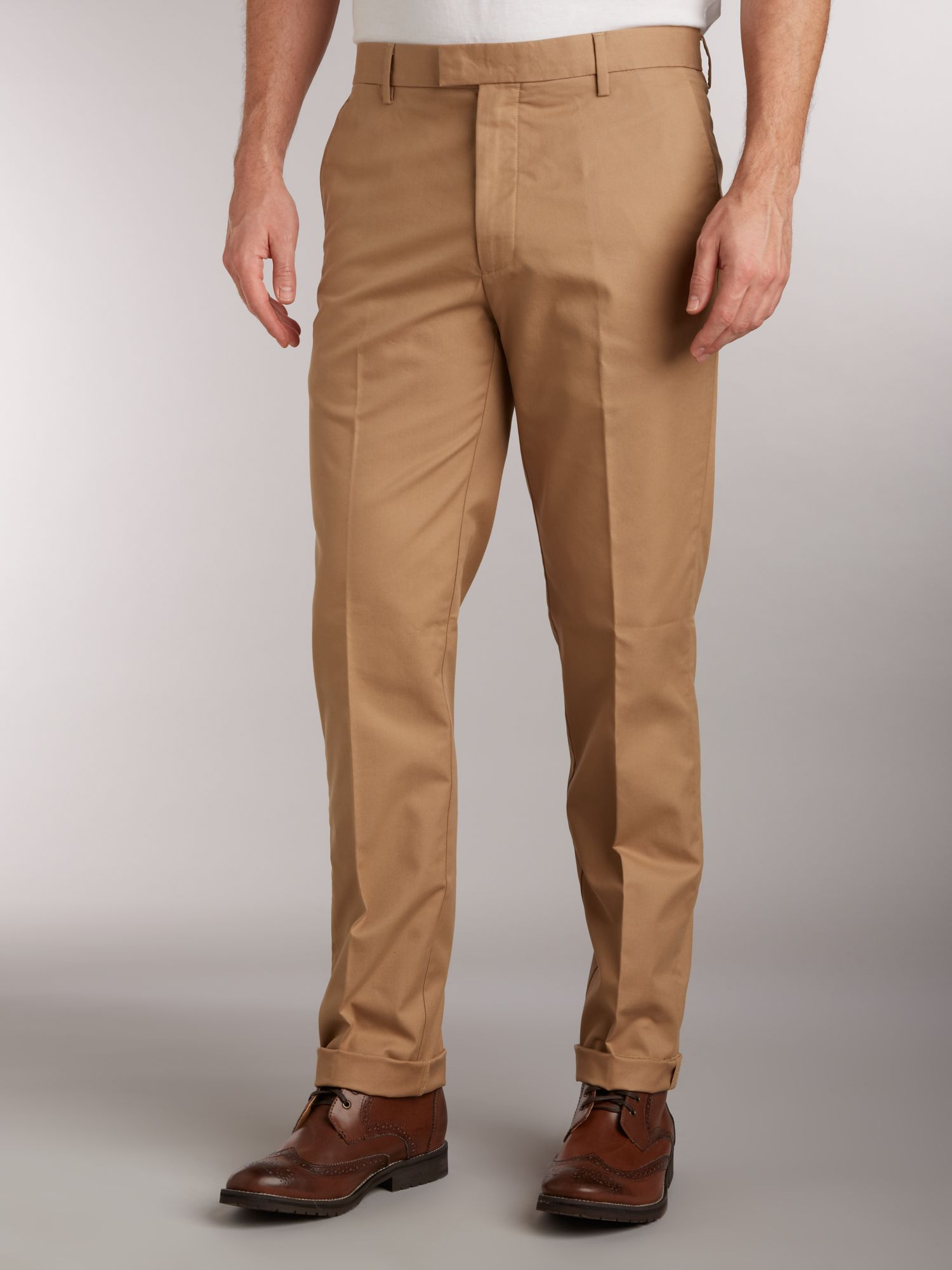 Khaki slim fitted chino`s