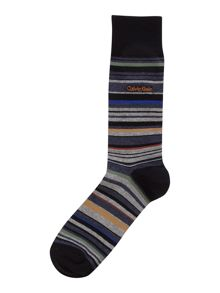Calvin Klein Striped Cotton-Blend Crew Socks
