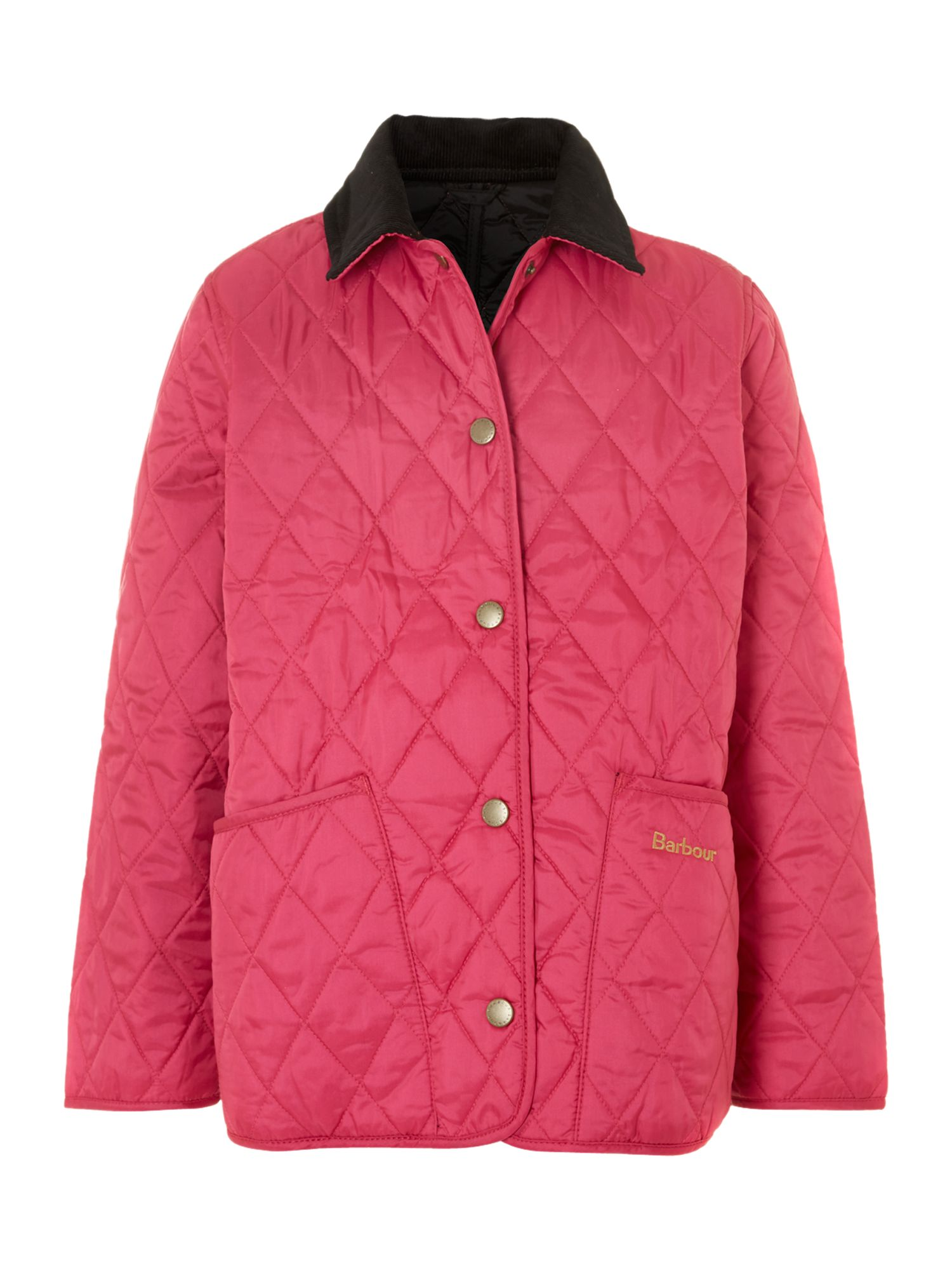 With a flattering tailored cut, this quilted jacket features a permanent hood and flap pockets to protect you from cold winds while the contrast trims and high low hem add just the right touch of style to keep you on-trend with the latest fashion.