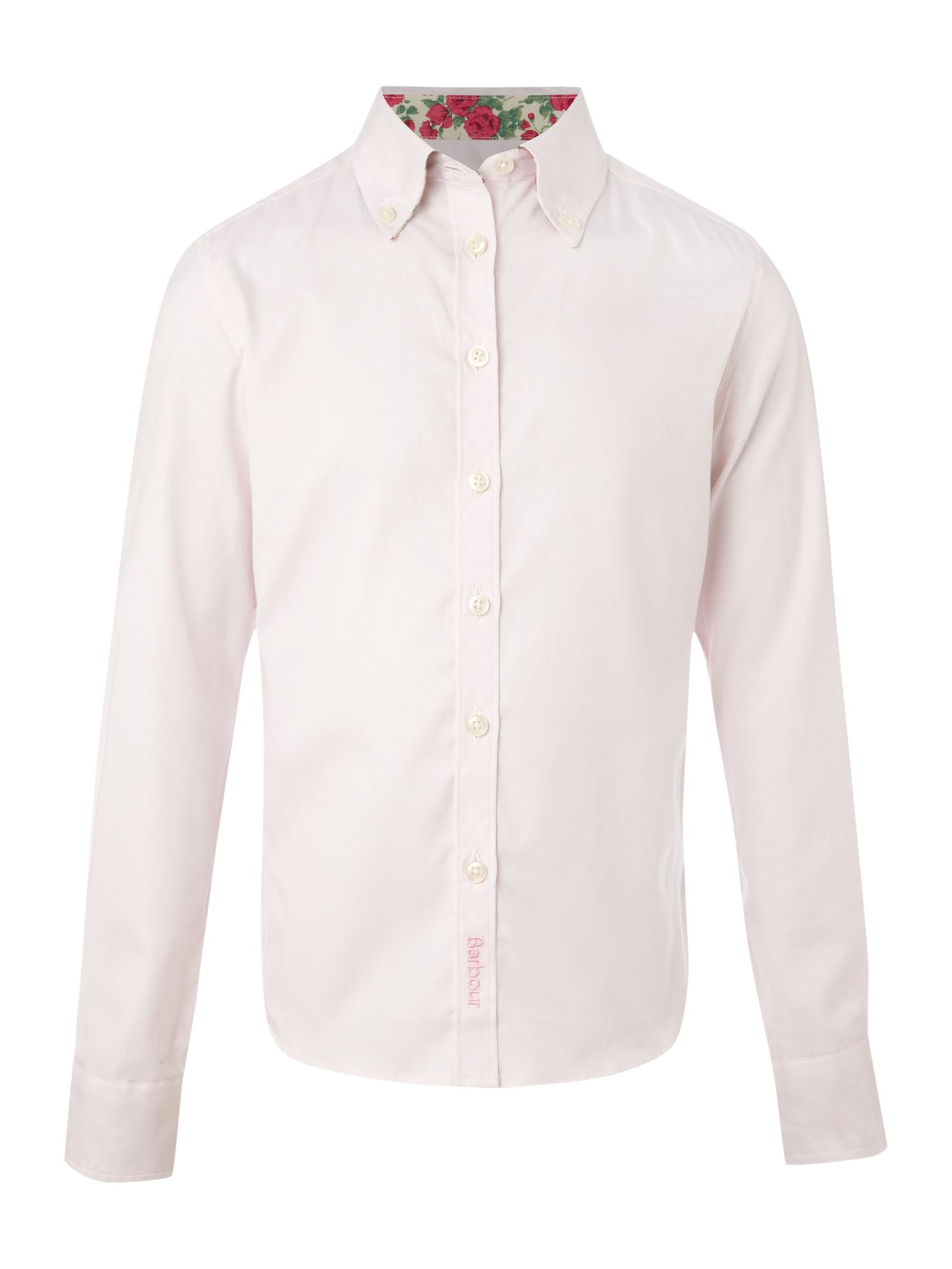 Long-sleeved rose trim shirt