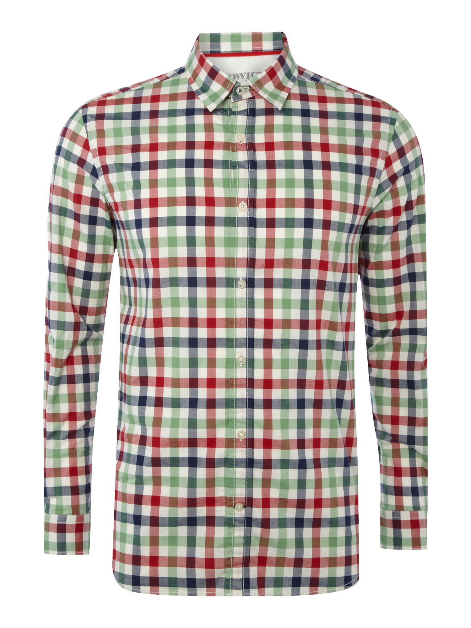 Aston check long sleeve shirt