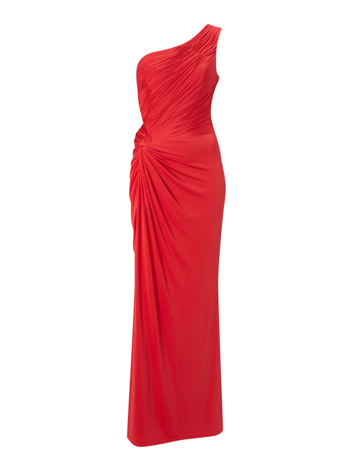 Asymmetric one shoulder maxi dress