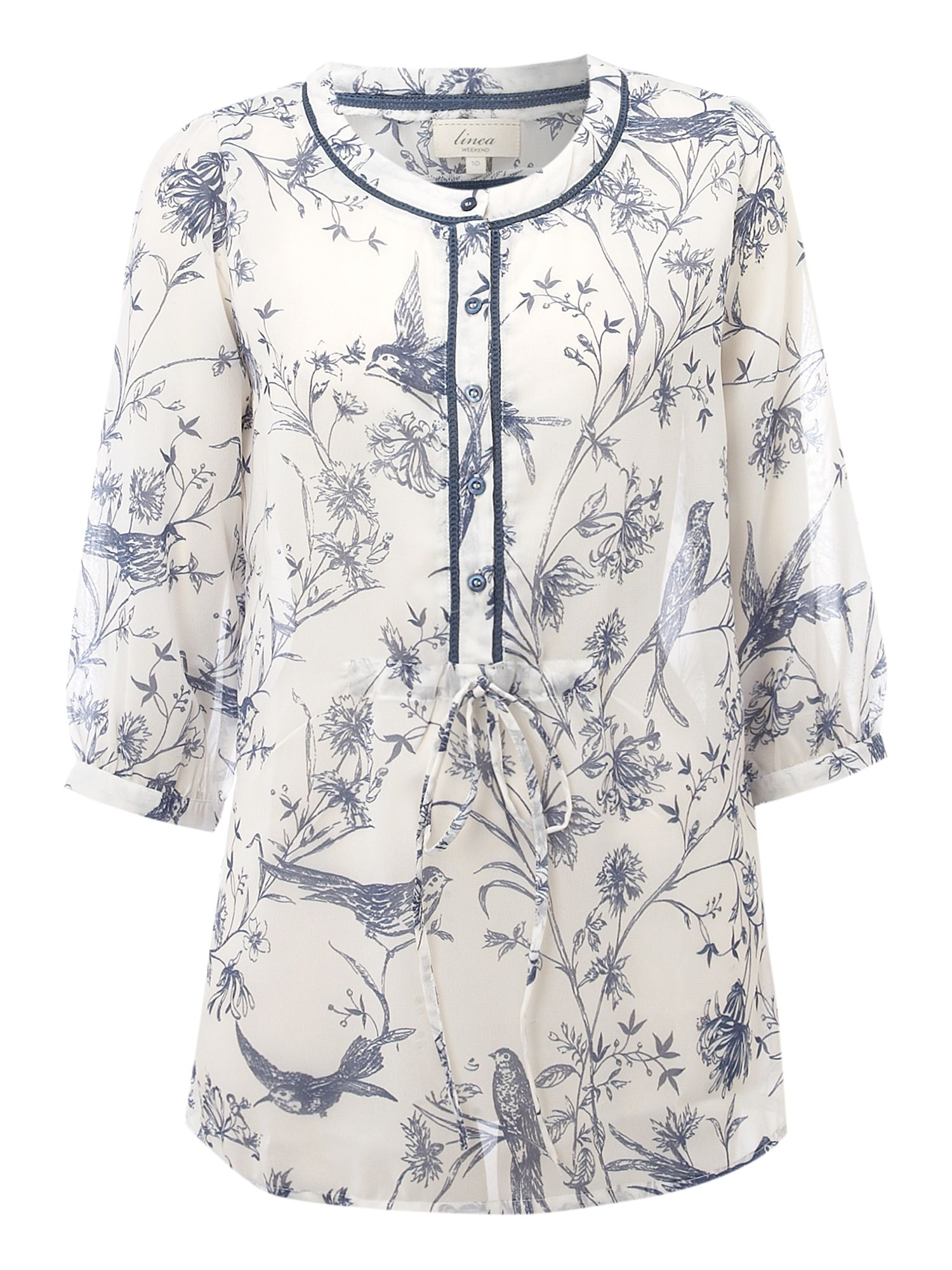 Womens Linea Weekend Bird print blouse,
