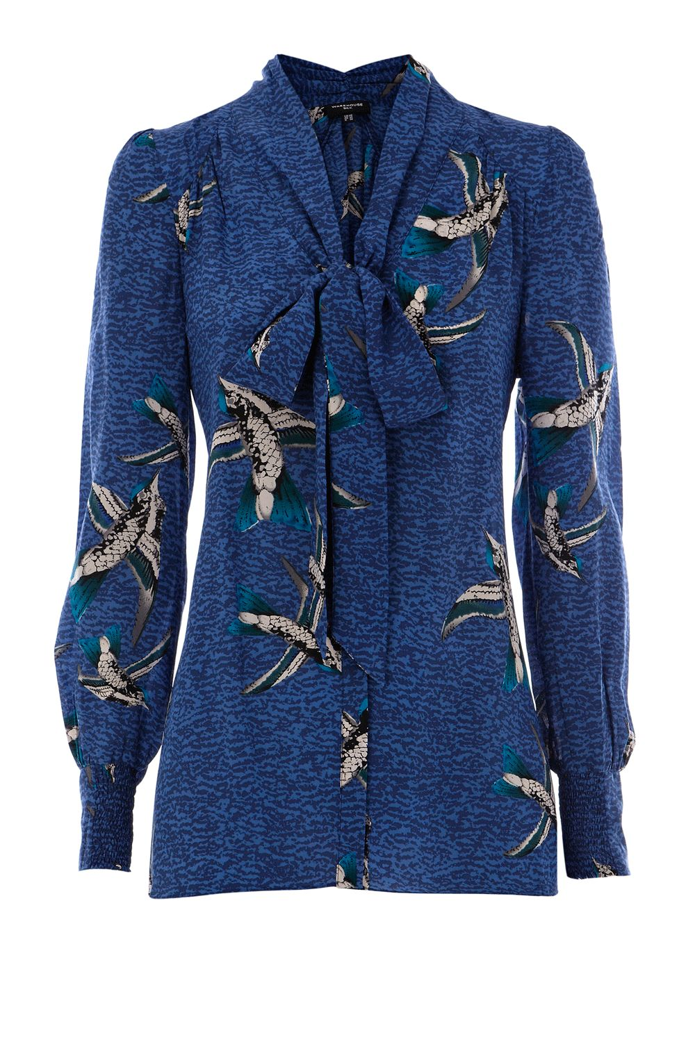 Warehouse Womens Warehouse Skylark print blouse, Blue product image