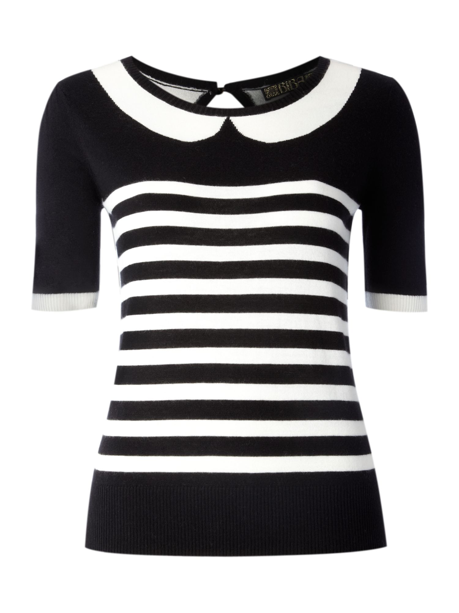 Stripe collar detail jumper