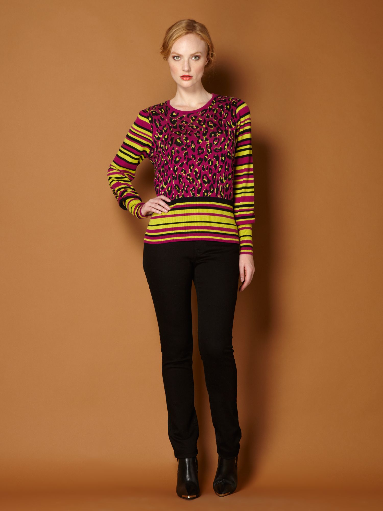 Long sleeve animal print jumper