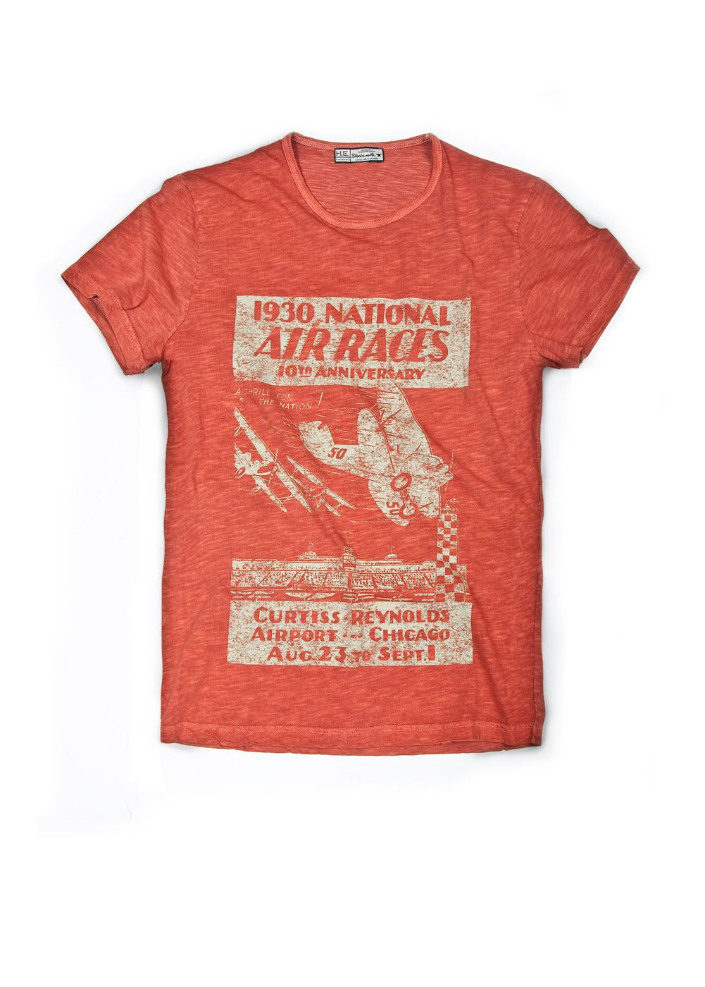 Mango Mens Mango Pompeya t-shirt, Red 163873366 product image