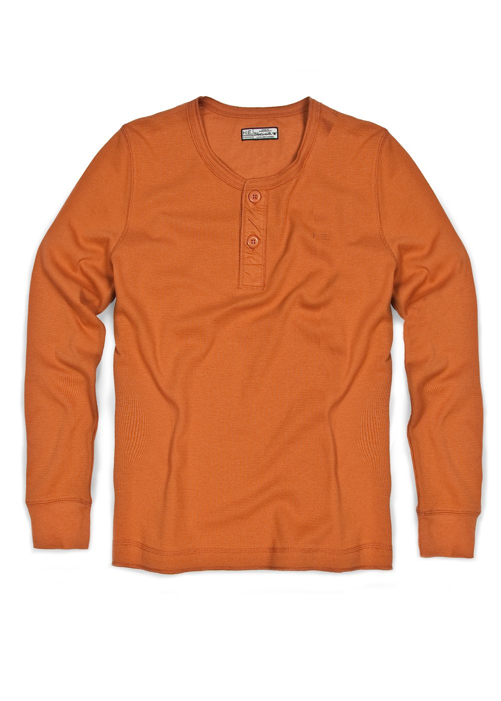 Mango Mens Mango Cotton henley t-shirt, Orange product image