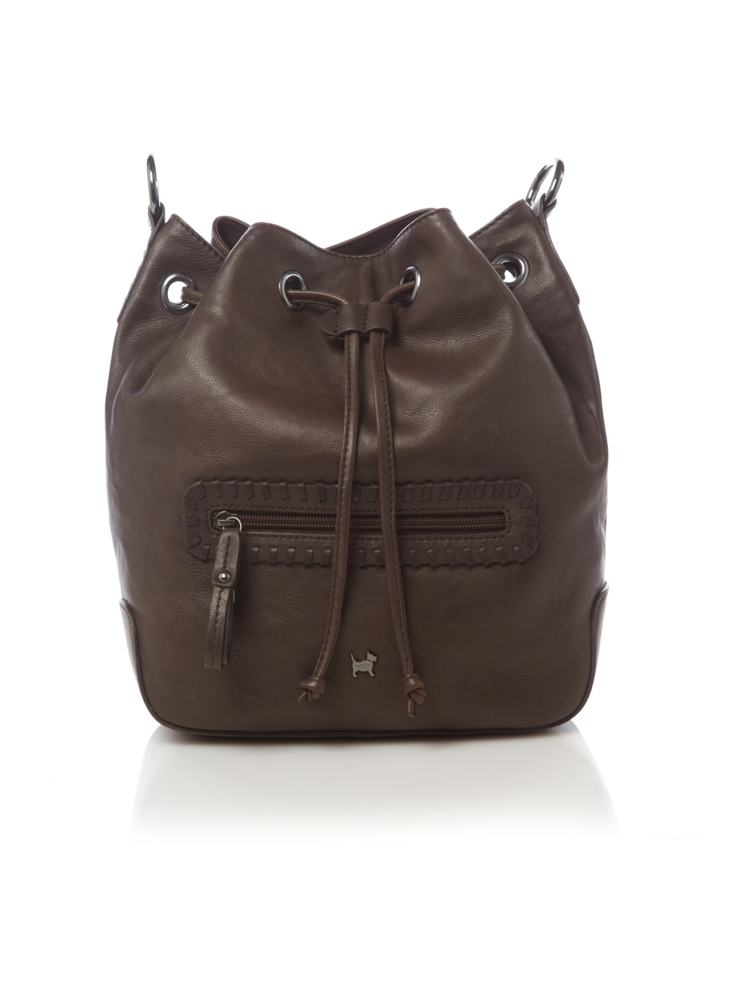 Mary Portas & Radley Hayes large drawstring cross body bag, Brown