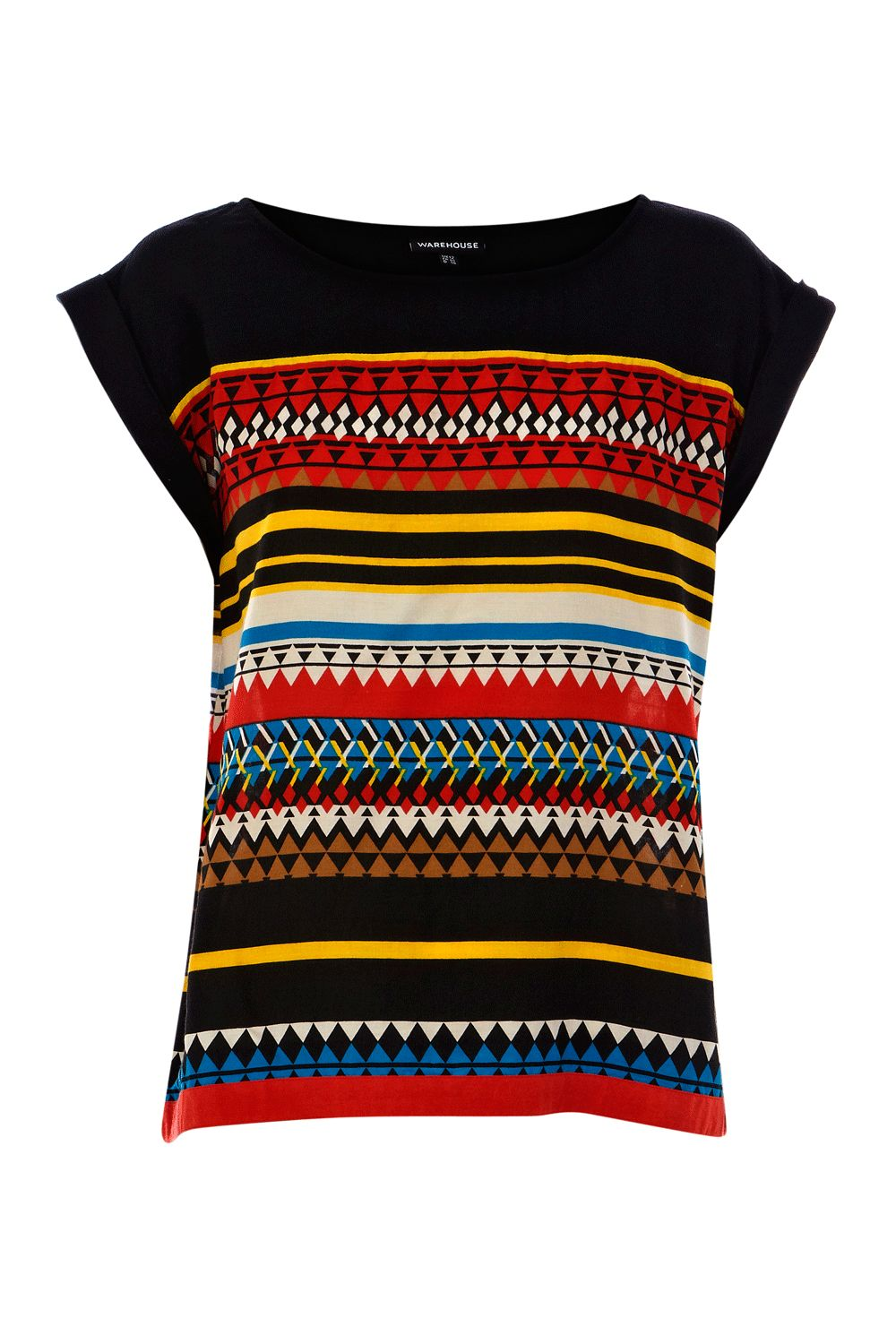Warehouse Womens Warehouse Stripe tile t-shirt, product image
