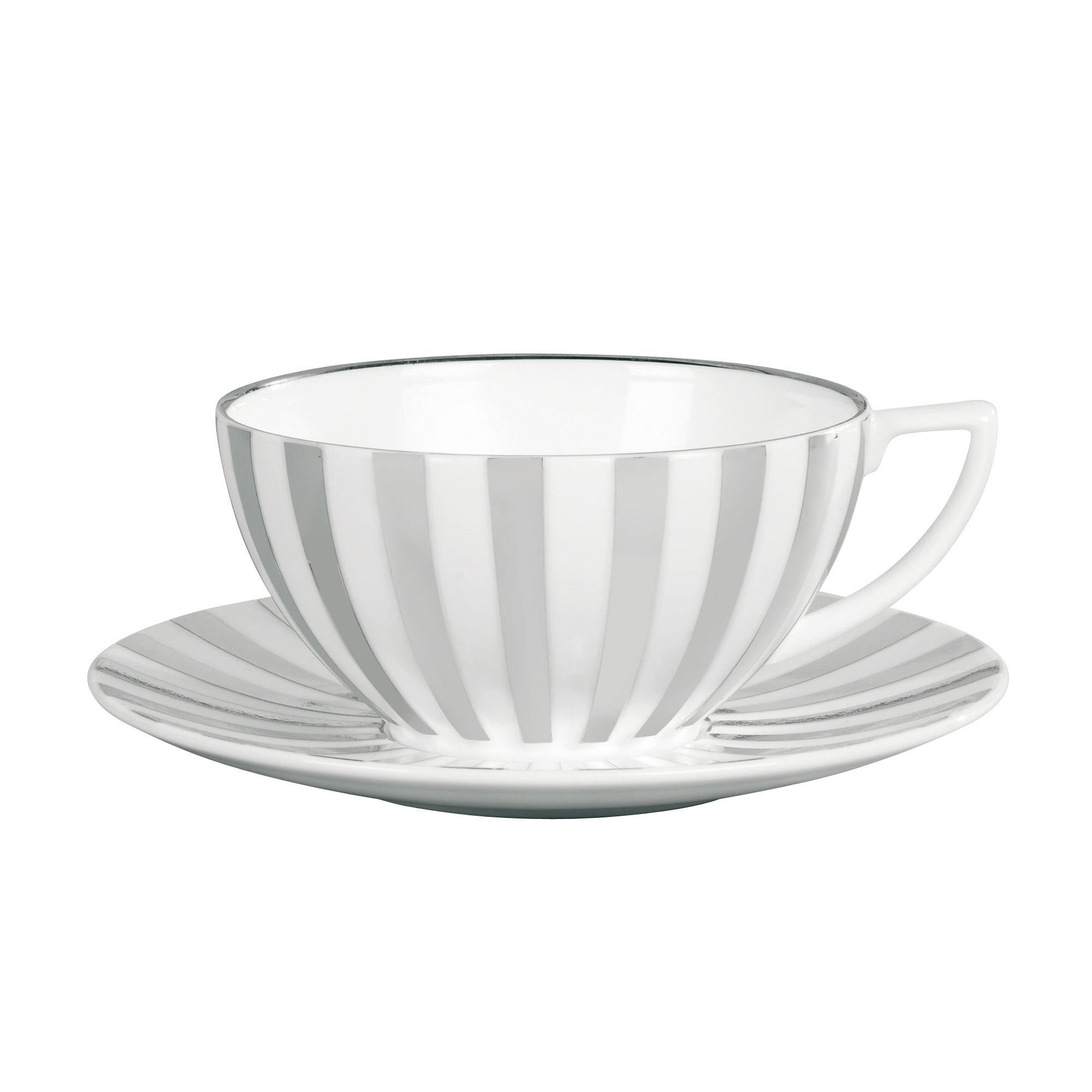 Platinum Striped Tea Saucer