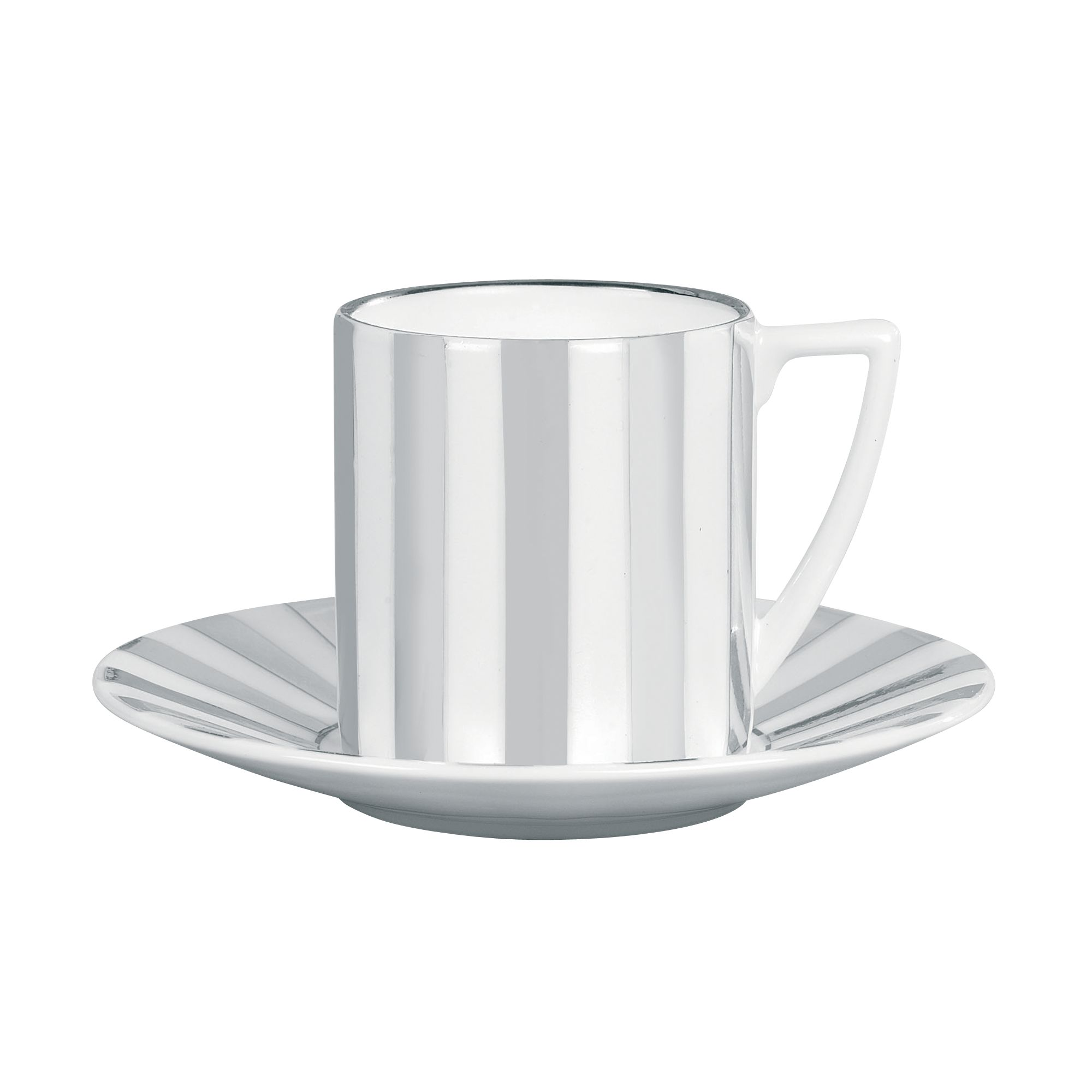 Platinum Striped Espresso Saucer