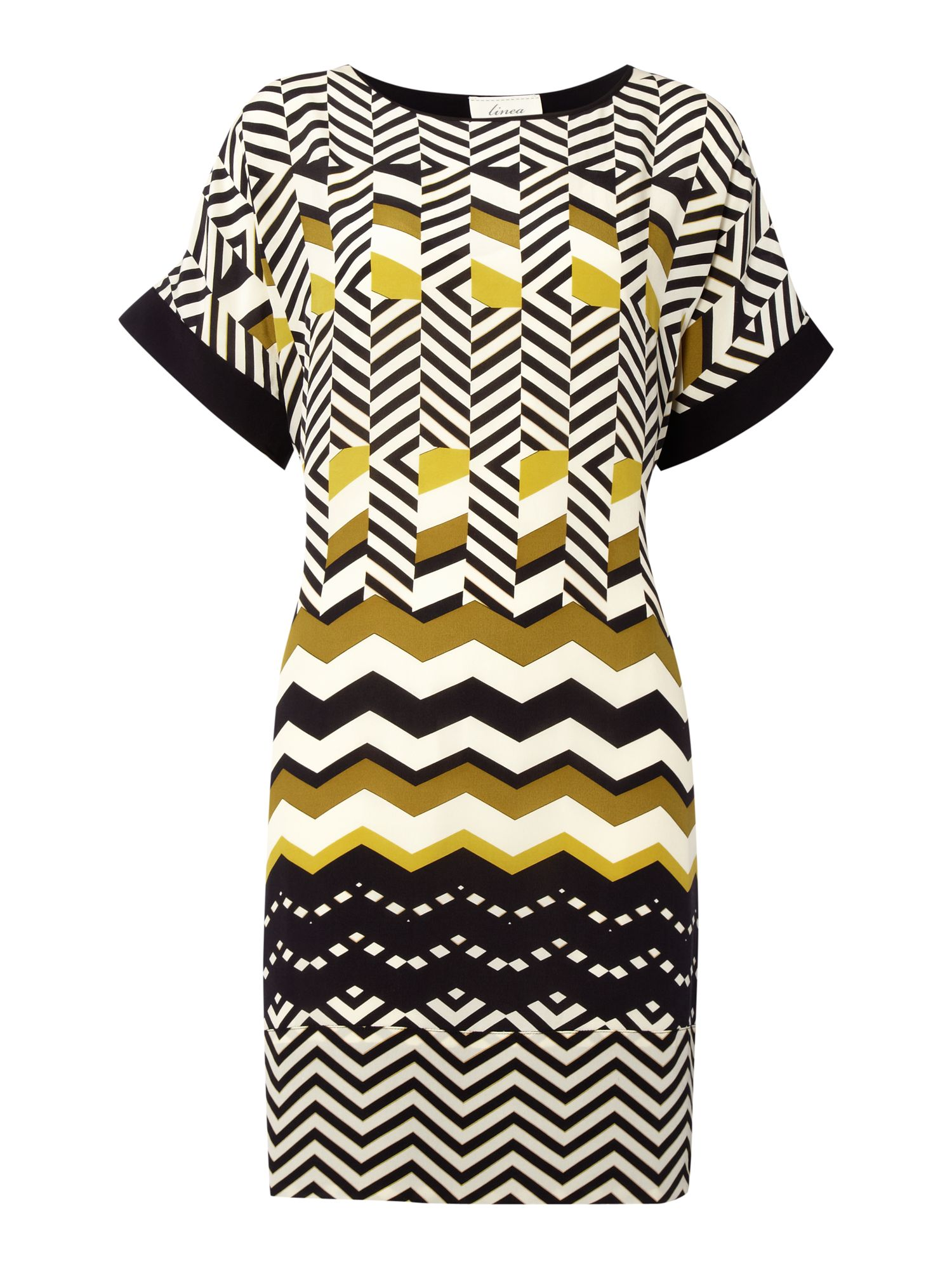 Chevron print tunic dress