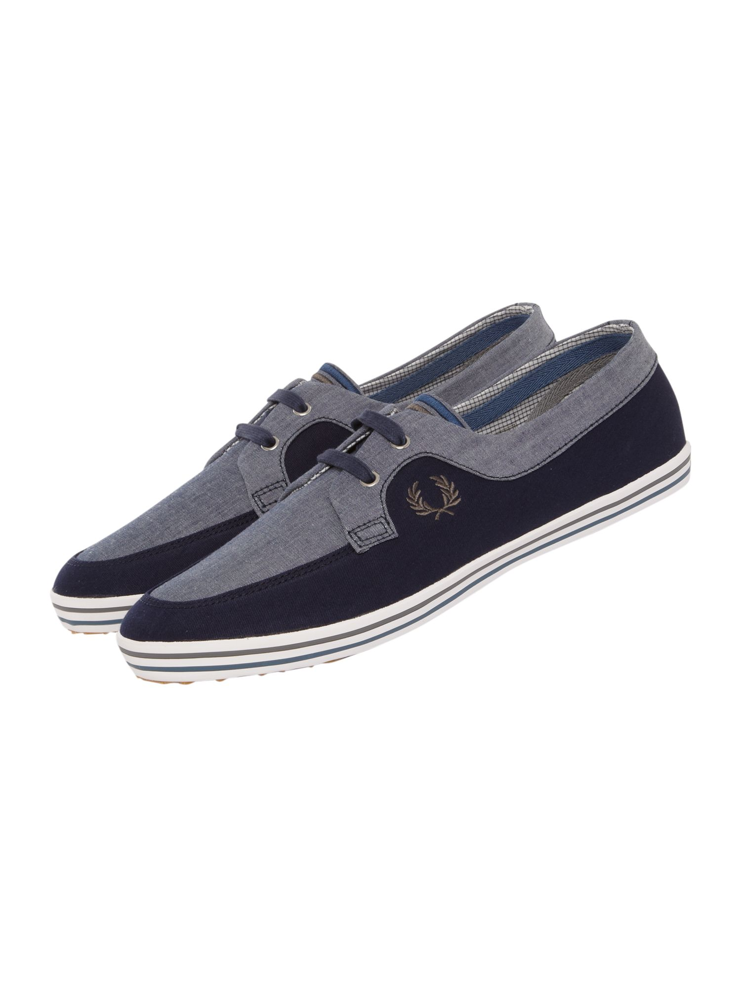 Fred Perry Low Top Drury Chambray Trainer, Navy