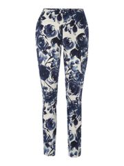 Untold Printed cropped trousers