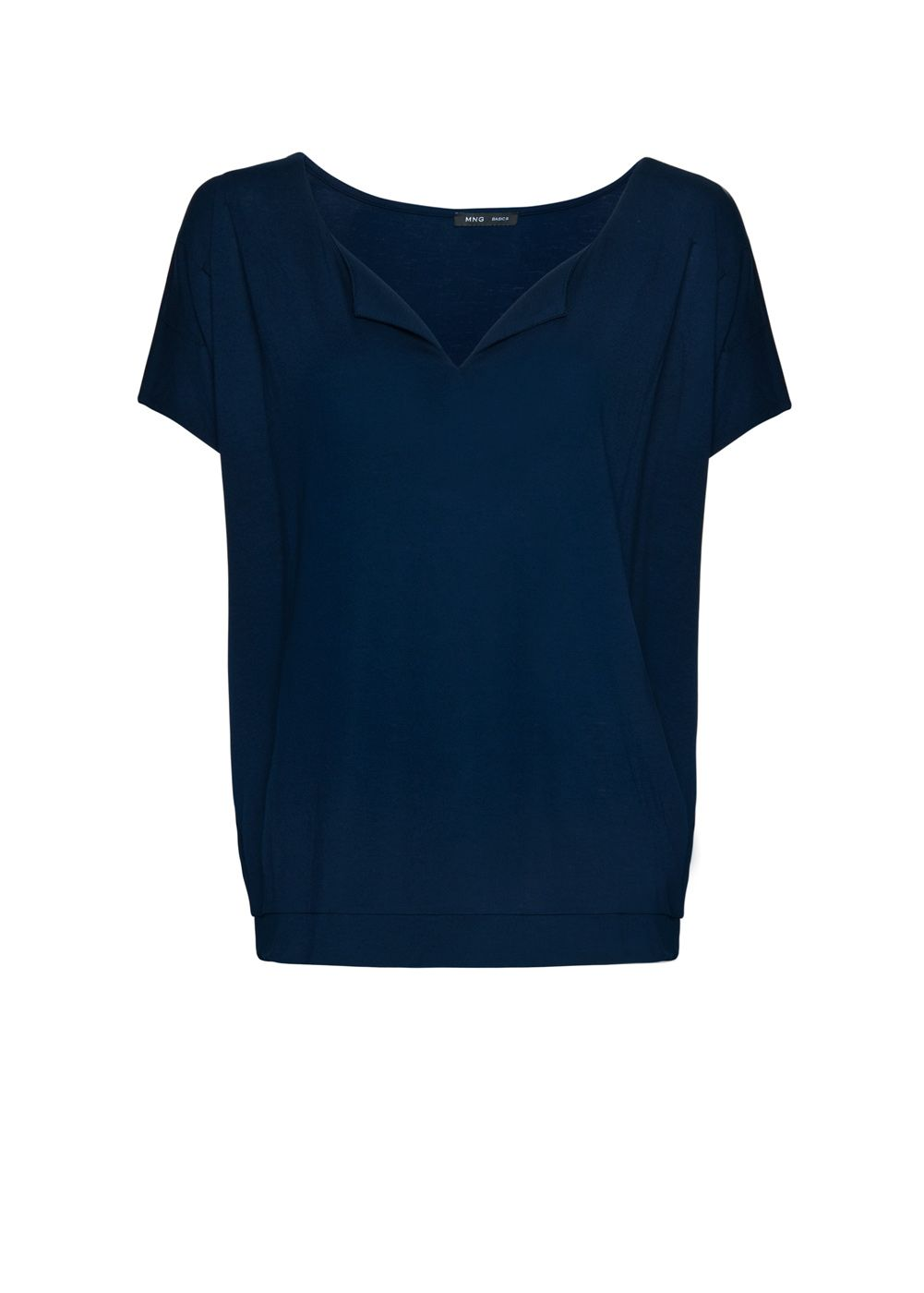 Mango Womens Mango V-neck t-shirt, Navy 164980132 product image
