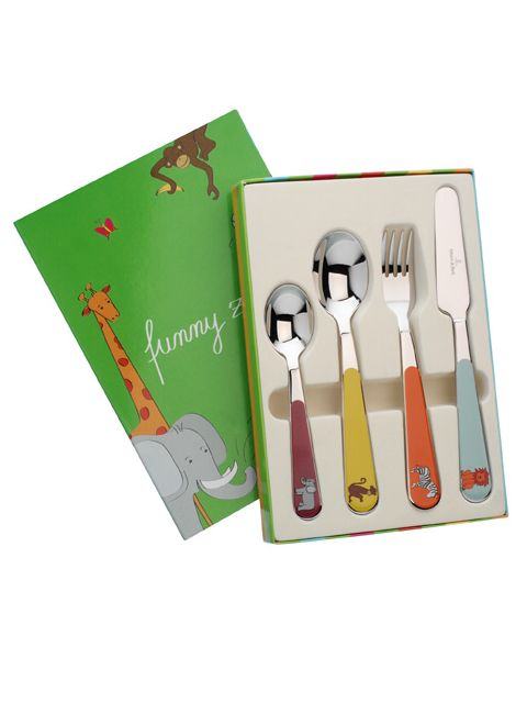 Funny zoo kid`s cutlery set, 4 pieces
