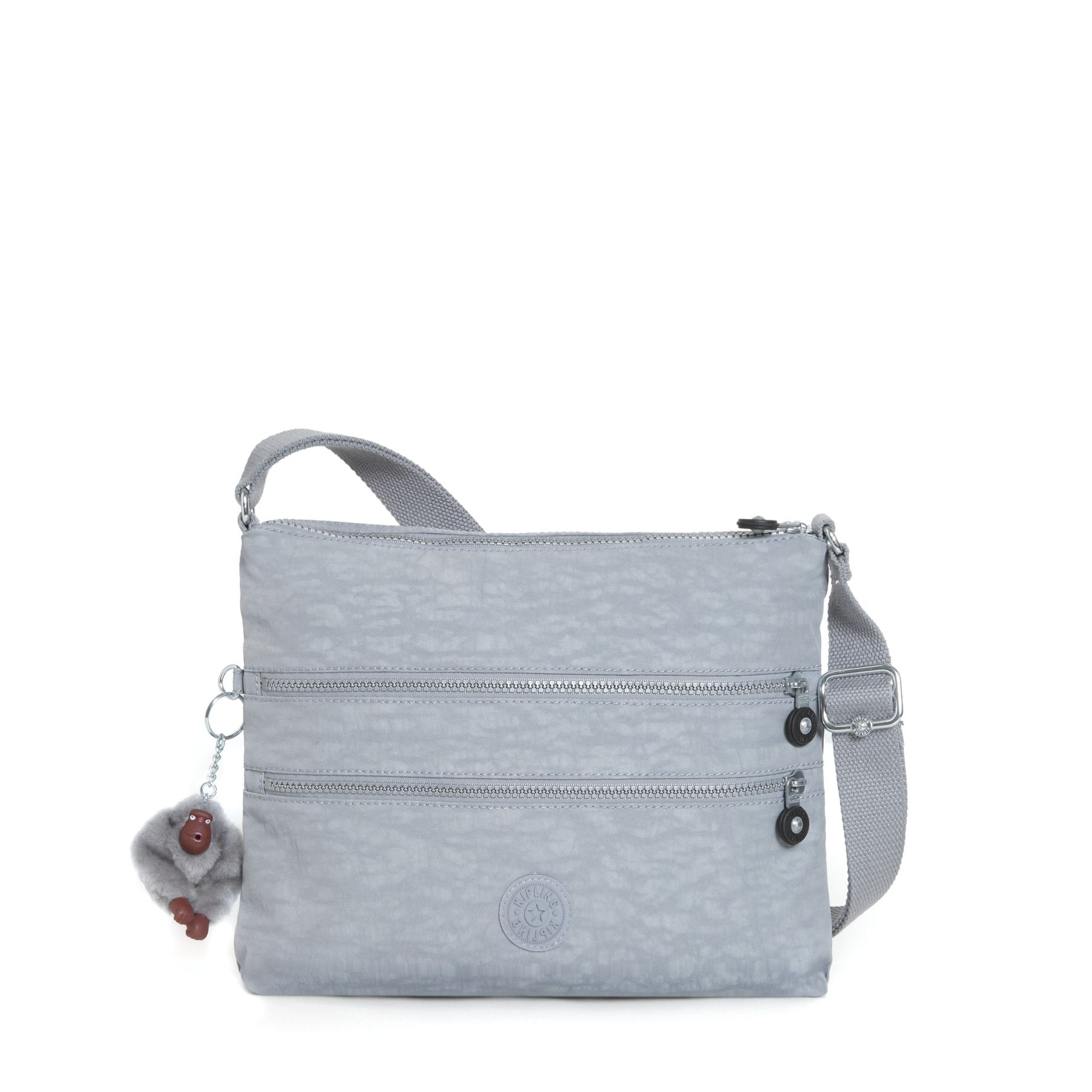 Kipling Alvar Across Body Shoulder Bag, Grey