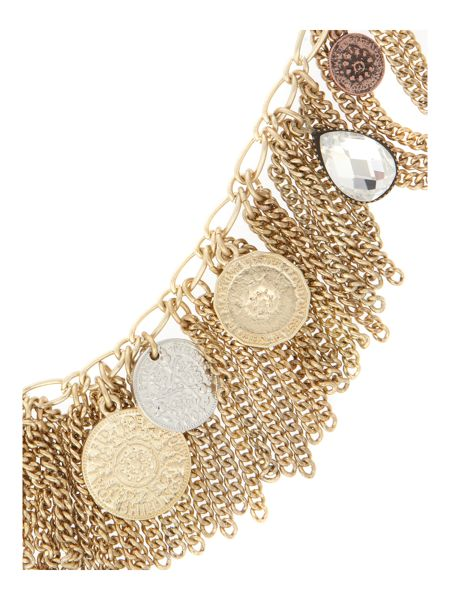 Martine Wester Gold plated coin bin tassle necklace