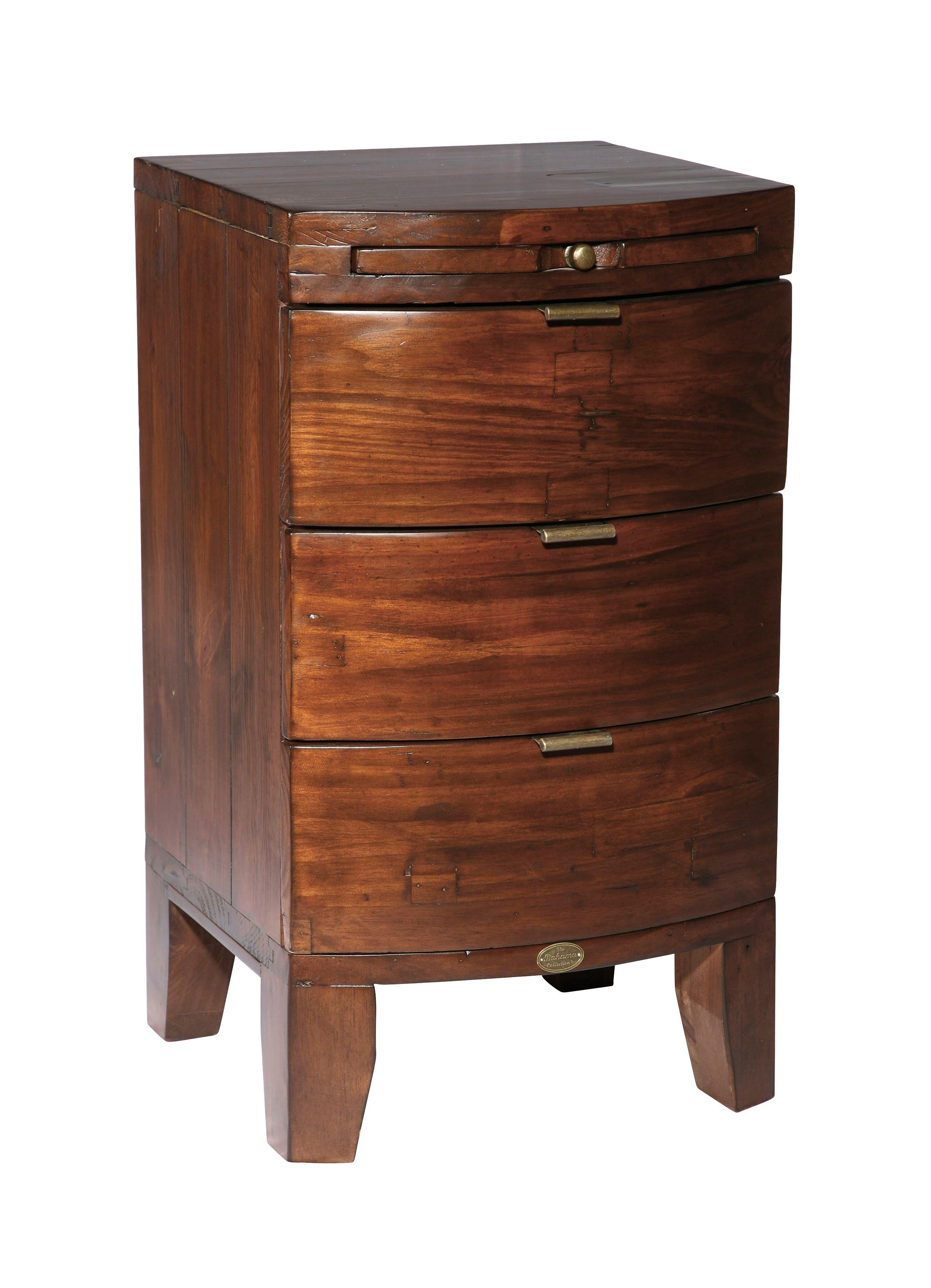 Lyon 3 drawer bedside chest with coffee slide