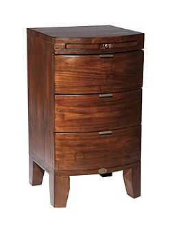 Linea Lyon 3 drawer bedside chest with coffee