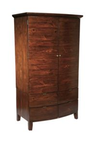Lyon Double Wardrobe With Drawers