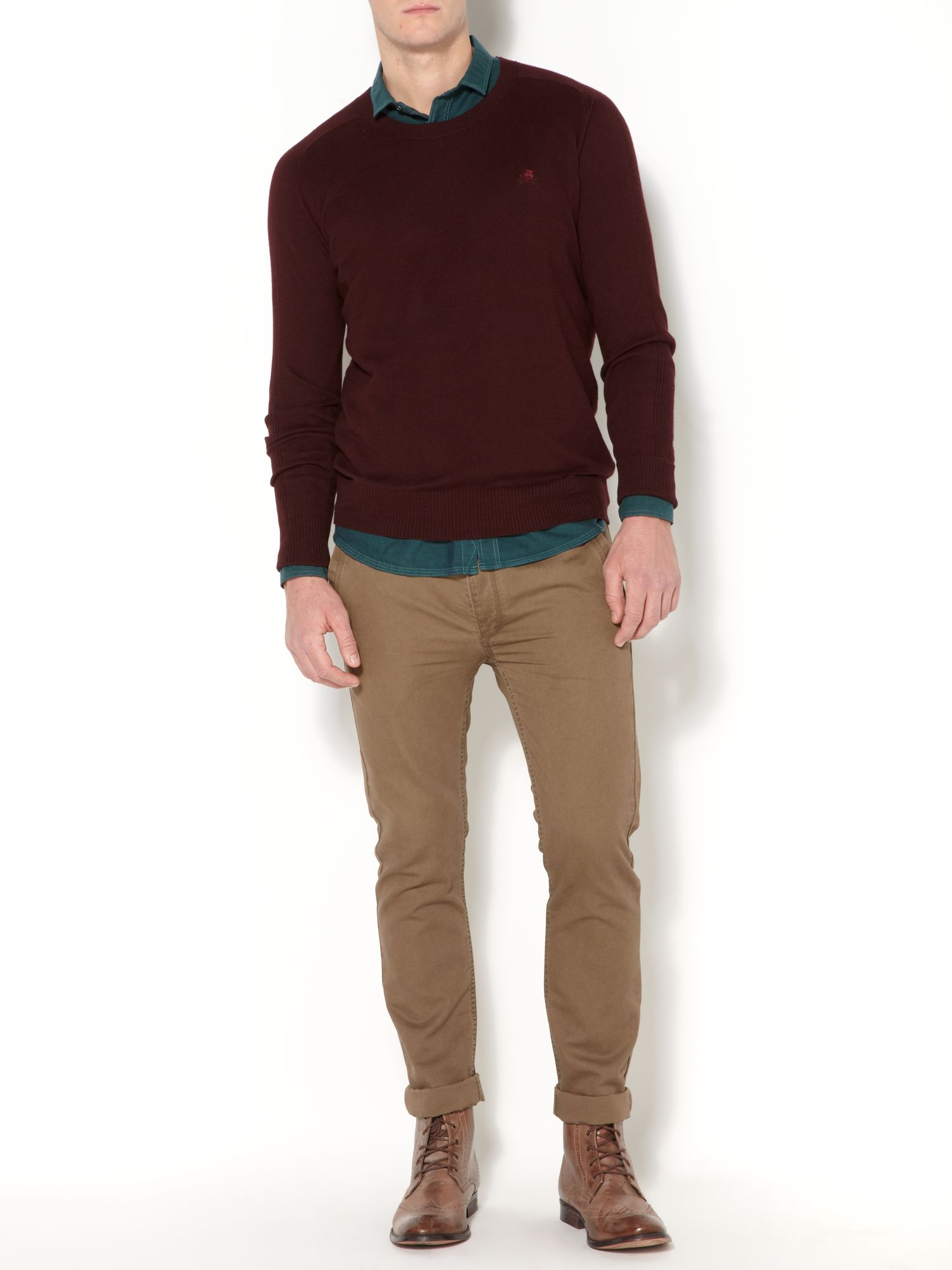 Essential wool mix crew neck jumper