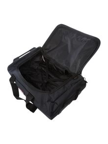 Spins S midnight blue wheeled duffle bag