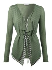 Oui Waterfall knit stripe cardigan