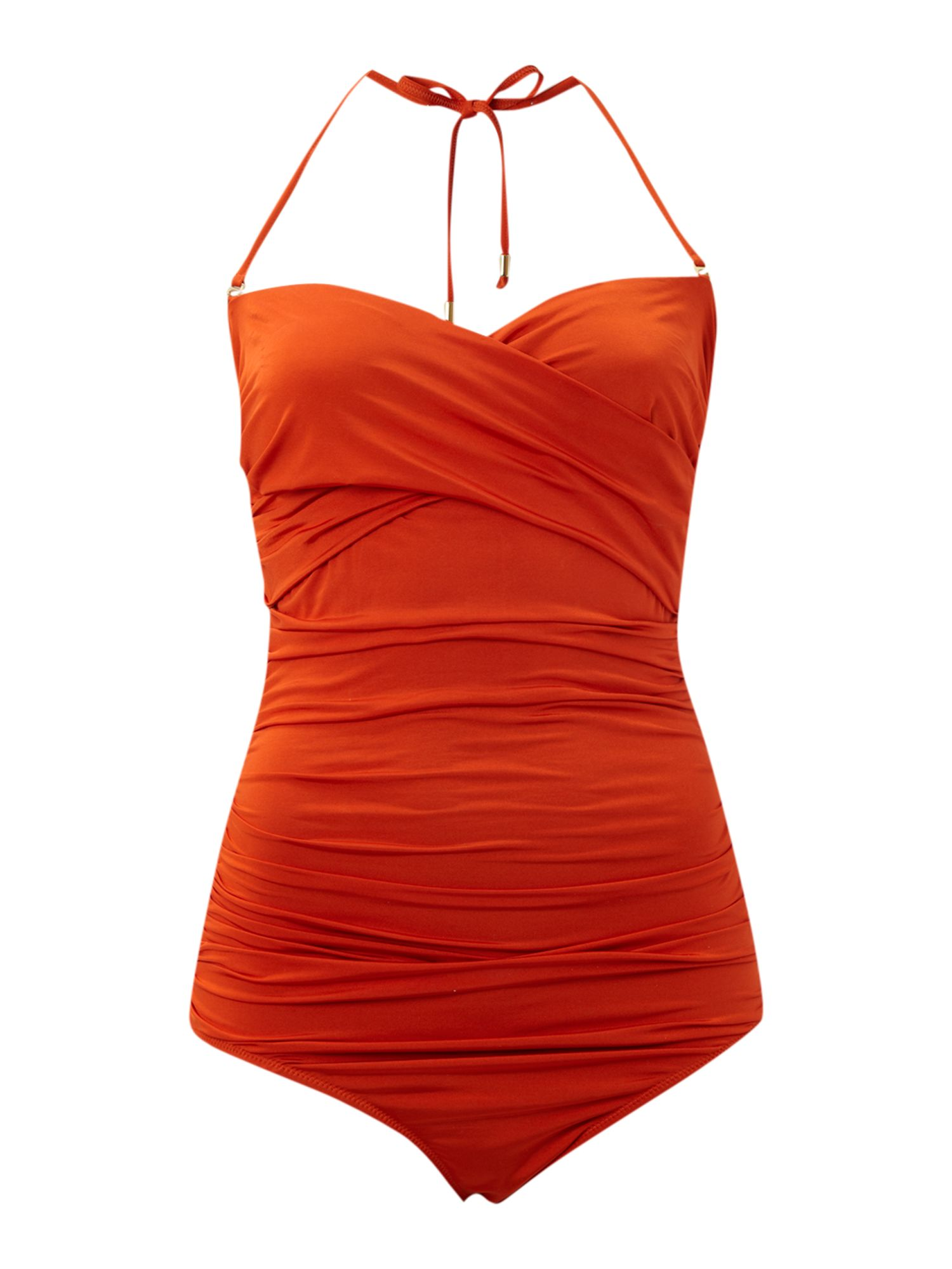 Twist bandeau swimming costume