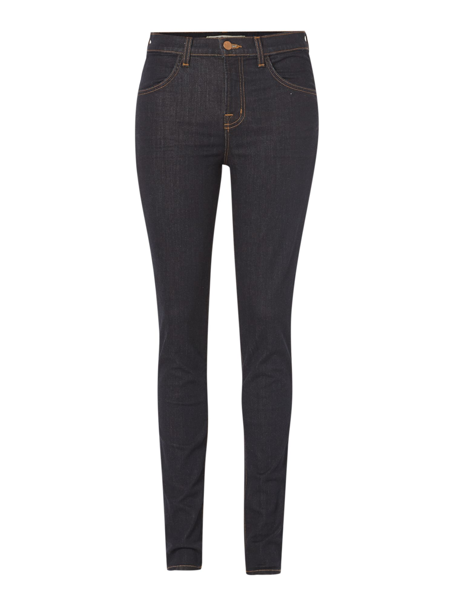 Maria high rise skinny jeans in Starless